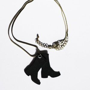 Rubber Boots Necklace
